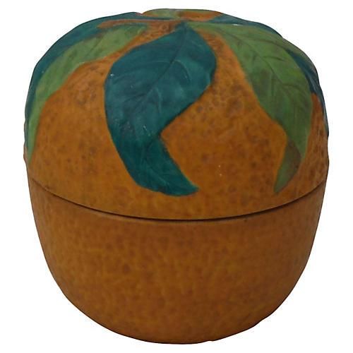 Majolica Orange Jam Pot