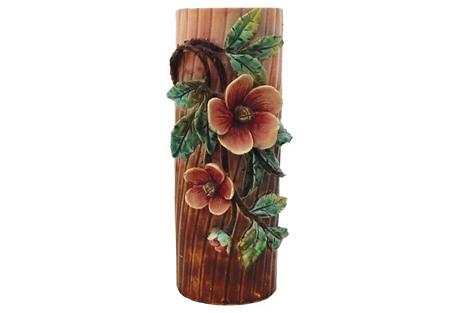 Majolica roses Flowers Vase