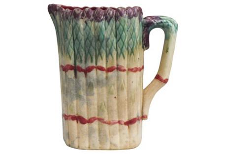 Majolica Asparagus Pitcher