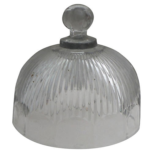 French Glass Cheese Bell