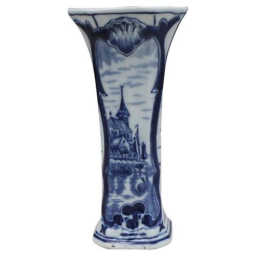 Blue & White Delft Vase