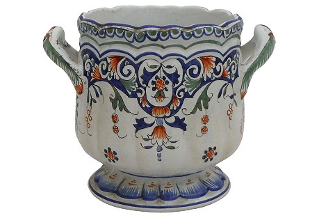 French Faience Rouen-Style Cachepot