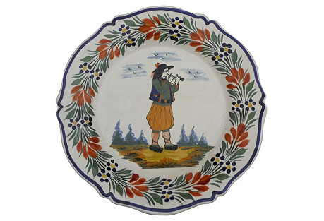 Quimper Faience Wall Plate