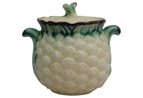 Majolica Pineapple Sugar    Bowl
