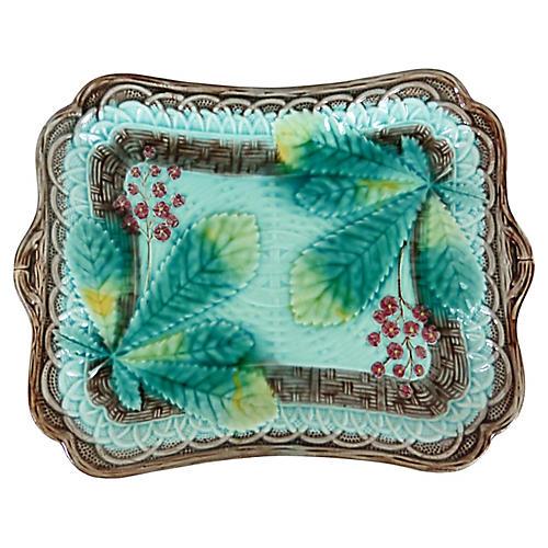 Majolica Chesnut Wall Platter