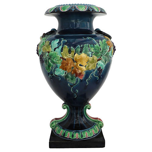 Majolica Grapes Vase