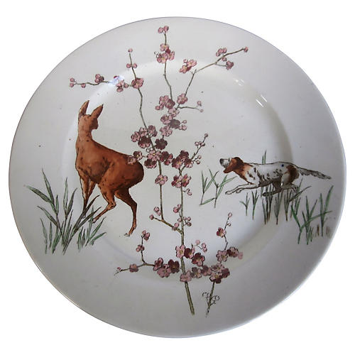 English Hunt Scene Wall Plate I