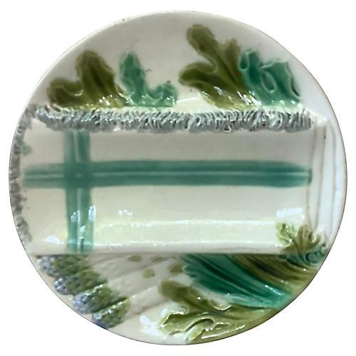Salins Majolica Asparagus Plate