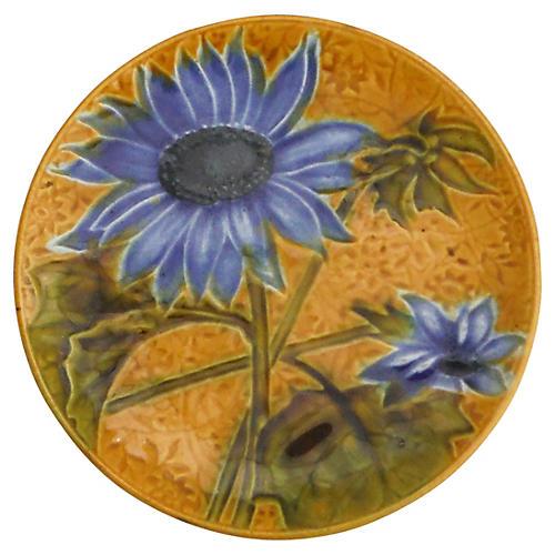 Majolica Sunflower Wall Plate