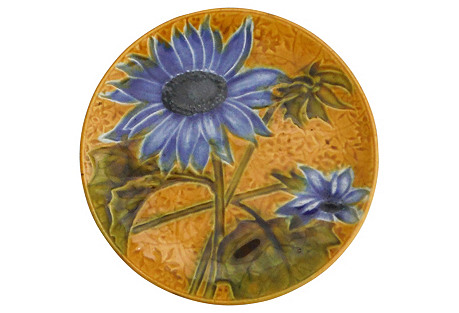 Majolica Sunflower Wall Plate