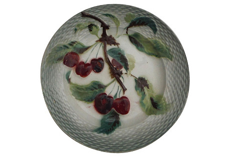 Majolica Cherries Wall Plate