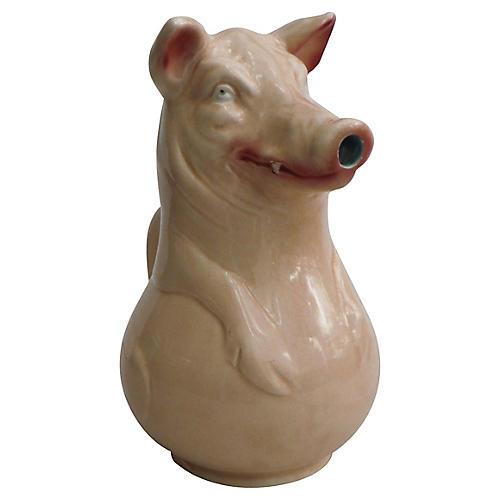 Majolica Pig Pitcher