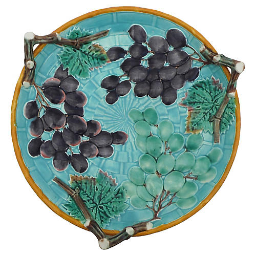 Wedgwood Majolica Grapes Platter