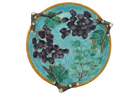 Wedgwood Majolica Grapes Platter