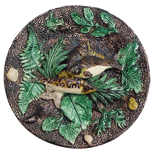 Majolica Palissy Fishs Wall Platter