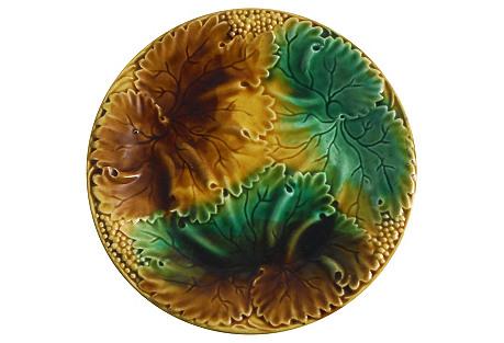 Majolica Leaves Wall Plate