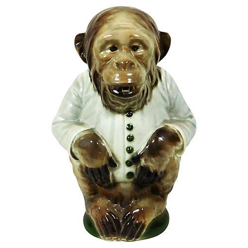 Majolica Monkey Pitcher C.1900