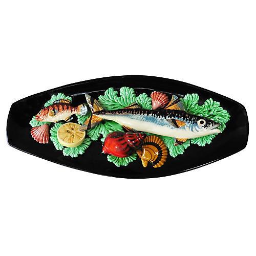 Majolica Fishs Wall Platter