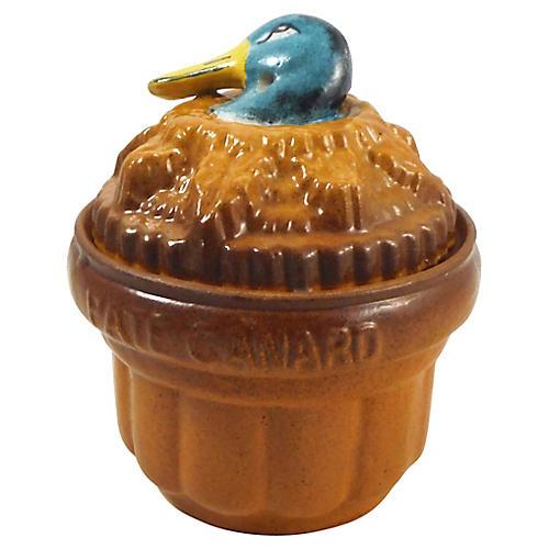 19th-C. French Duck Pâté Tureen