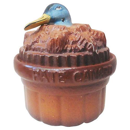 19th-C. Duck Pâté Tureen