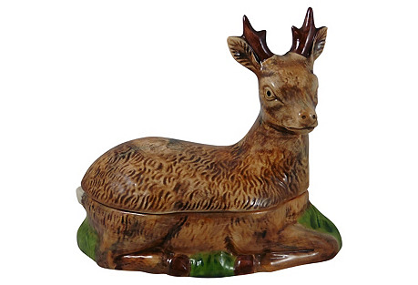 Majolica Deer Tureen