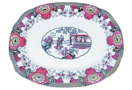 19th-C. English Platter
