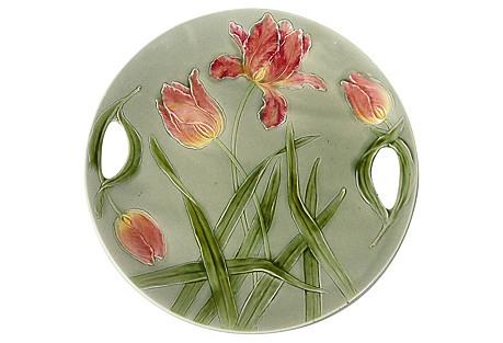 Majolica Tulip Platter