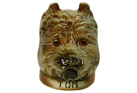 Majolica Dog Moneybank