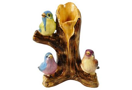 Majolica Birds Vase by Massier