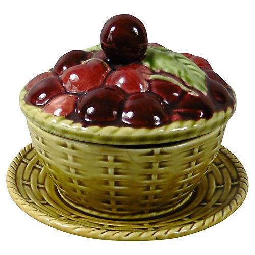 Majolica Cherries Tureen