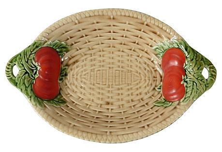 Majolica Tomato Platter