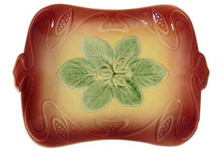 Majolica Hazelnut Wall Platter