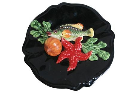 Majolica Fish Wall Platter