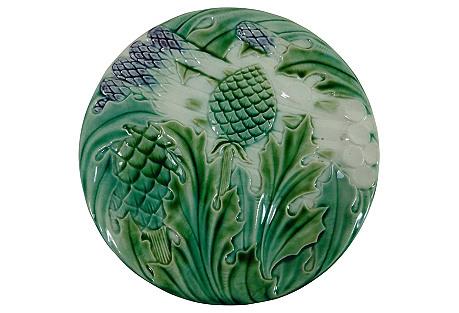 Majolica Asparagus Wall Plate