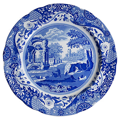 Blue & White Italian Copeland Plate
