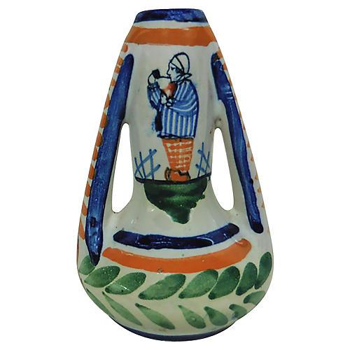 French Faience Breton Vase