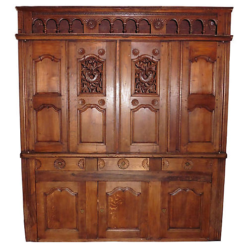19th-C. Brittany Cabinet