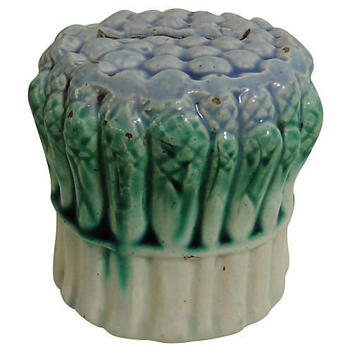 Majolica Asparagus Money Bank