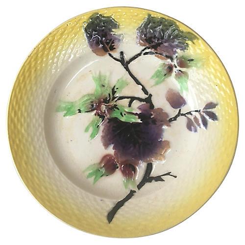 Majolica Hazelnut Plate