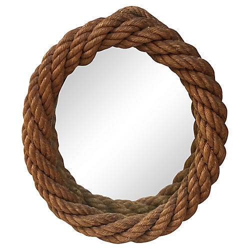Audoux Minet Oval Rope Mirror