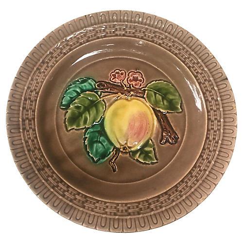Majolica Apple Plate