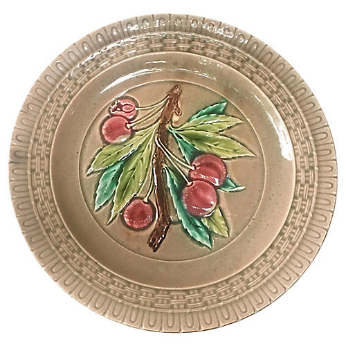 Majolica Cherries Plate