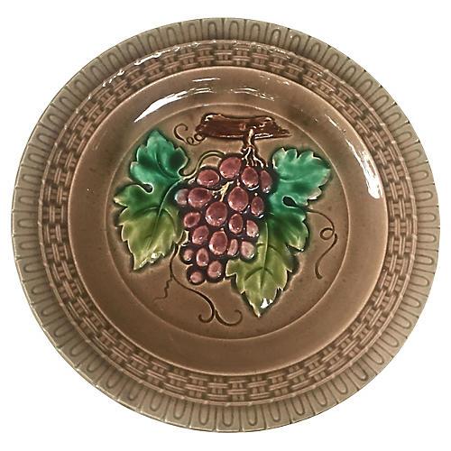 Majolica Grape Plate