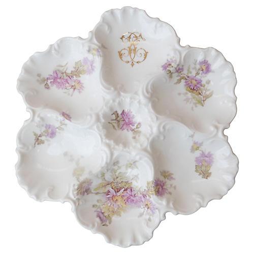 Porcelain Oyster Plate Limoges