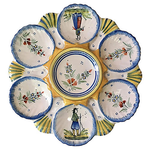 Faience Oyster Plate Quimper