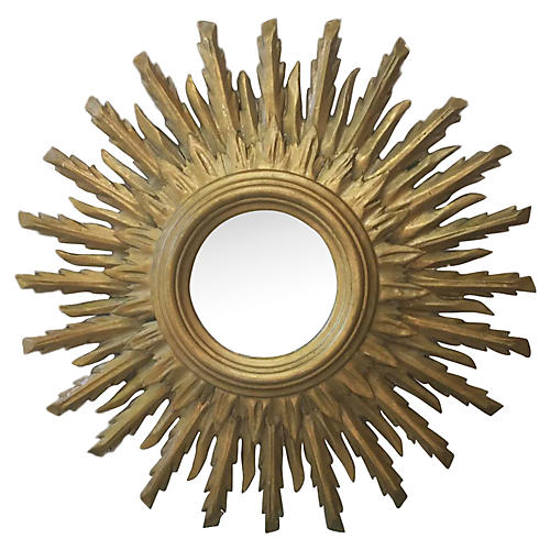 Sunburst Wood Mirror