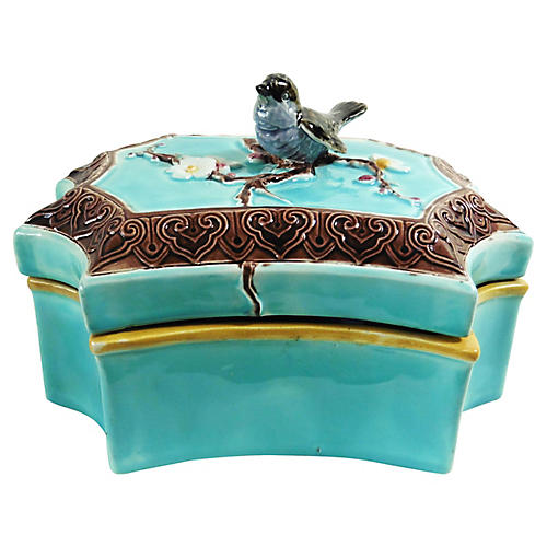 Majolica Bird Box