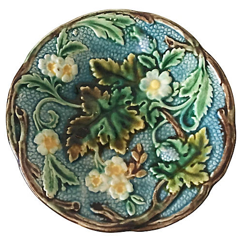 Rörstrand Majolica Floral Plate