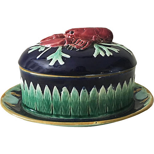 English Majolica Lobster Tureen
