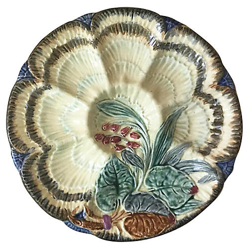 Majolica Oyster Plate Wasmuel